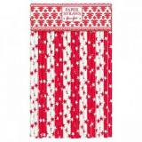 GreenGate Star red Papierstrohhalme