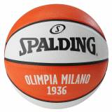 Spalding EL Team Olimpia Milano Basketball, weiß / orange