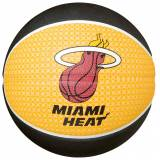 Spalding NBA Team-Ball Miami Heat (73-646Z) Basketball, gelb / schwarz