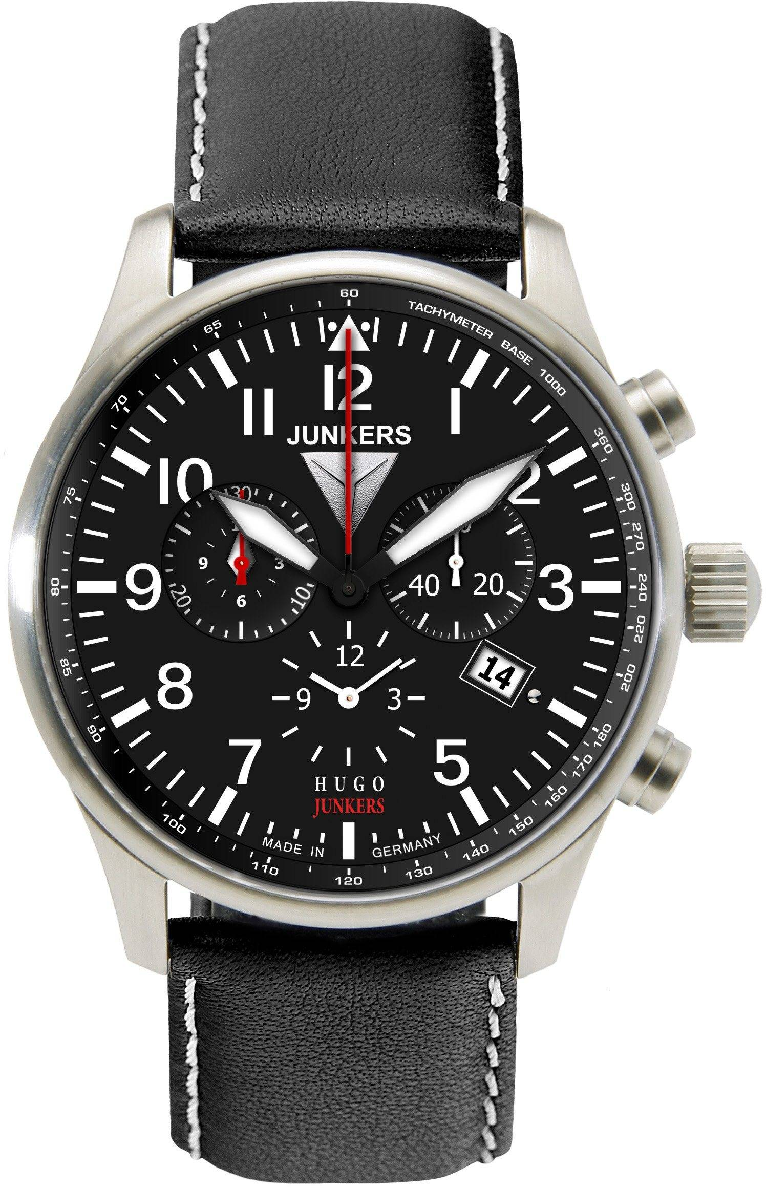 Junkers-Uhren Chronograph »Hugo Junkers, 6684-2« Made in Germany, schwarz
