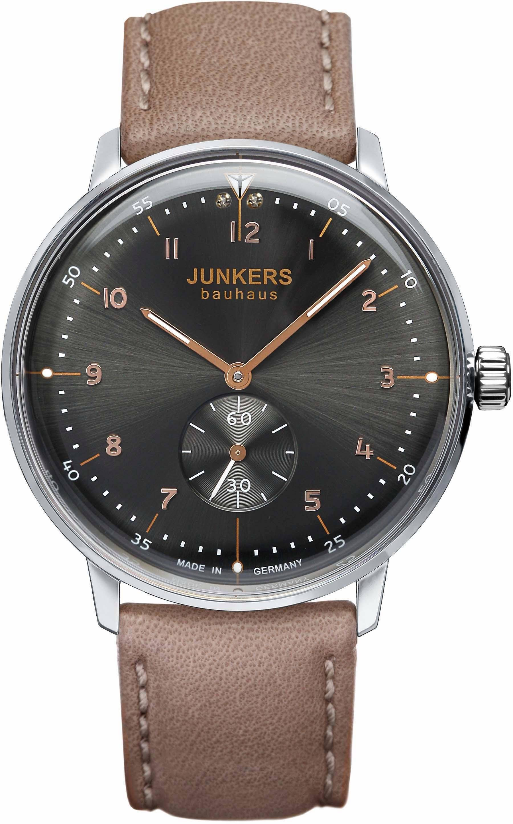 Junkers-Uhren Quarzuhr »Bauhaus, 60352« made in Germany, taupe