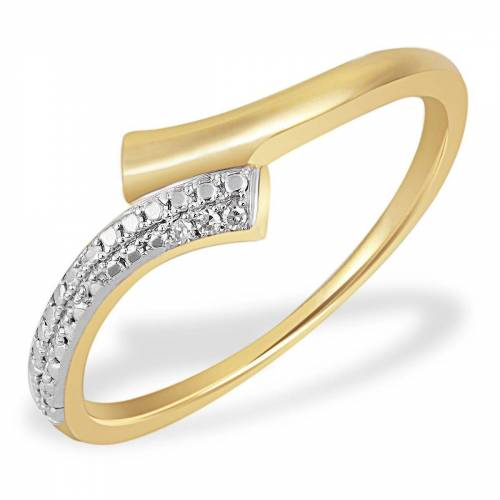 goldmaid Damenring Bicolor 585 Gelbgold 3 Diamanten 0,01 ct. SI/H, goldfarben