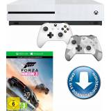 Xbox One S 500GB + Forza Horizon 3 (DLC) + 2. Controller Winter Forces Special Edition, 4K Ultra HD, weiß