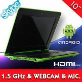 10 Zoll Notebook Android 4.0 Webcam & Micro 1,5 Ghz 1 Gb Ram Hdmi Laptop Netbook