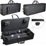 Steinbach leichter Keyboardkoffer mit Rollen (125 x 46 x 13 cm) Keyboard Tasche Keyboardtasche Keyboardkoffer Keyboardetui Keyboardtrolley Pull Case Keyboard Stagepianokoffer Stagepianokoffer SKPCW-50 Zubehör Keyboard Keyboard bag Stagepianotrolley Koffer Synthesi