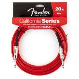 Fender - California Cable 6m CAR Candy Apple Red