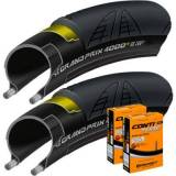 Continental 2 Grand Prix 4000S II 700 x 23c Tyres with 2 Conti -