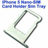Apple Nano sim kort holder iPhone 5 (sølv)