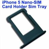 Apple Nano sim kort holder iPhone 5 (sort)