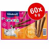 Vitakraft Økonomipakke: Vitakraft Cat Stick Mini 60 x 6 g - And & kanin