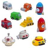 rattstart Vehicles and Space Invaders Bath Toys (10 Pack) 0 - 5 years