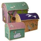 Rice Set of 3 Toy Baskets with The Ugly Duckling Theme One Size