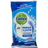 Dettol Power & Pure Bathroom Cleaning Wipes 72 stk