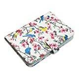Trendz Fashionable Patterned Travel Passport Case Cover Protector and Holder - Vintage Bird