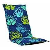 Kettler 0309505-8729 Cushion for Chair 100 x 50 x 8 cm Blue Flowers with Yellow Detail
