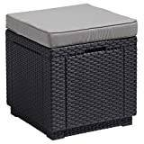 Cube Allibert stool Cube with cushion, gray