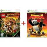 Lego Bundle: Lego Indiana Jones + Kung Fu Panda (X360)