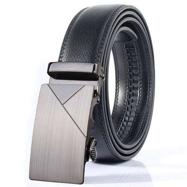rosegal Polished Geometric Automatic Buckle Wide Belt