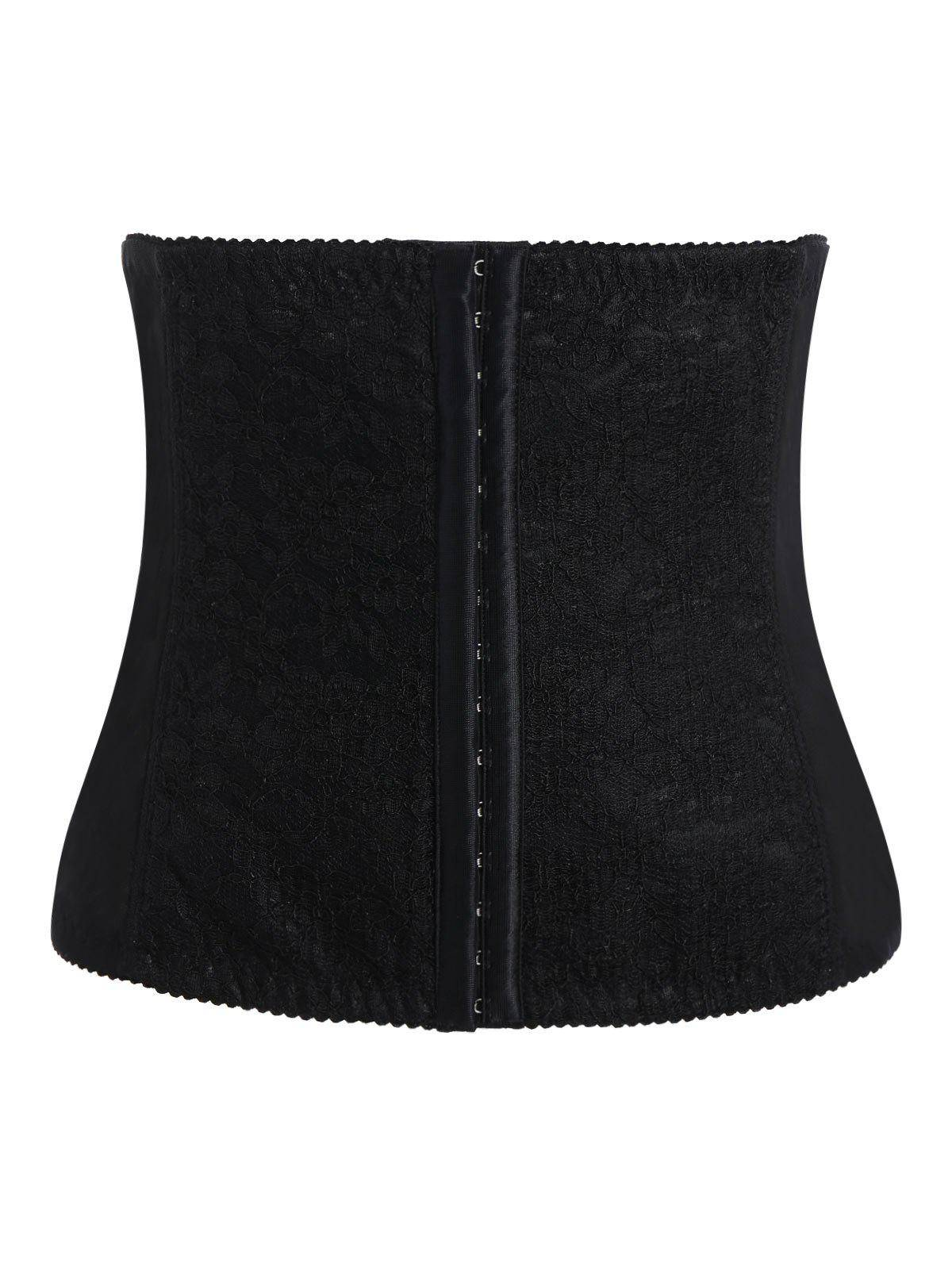 rosegal Strapless Lace Panel Steel Boned Plus Size Corset