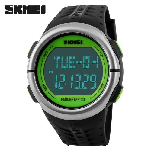Skmei New Big Case Pedometer Heart Rate Monitor Digital Wristwatch