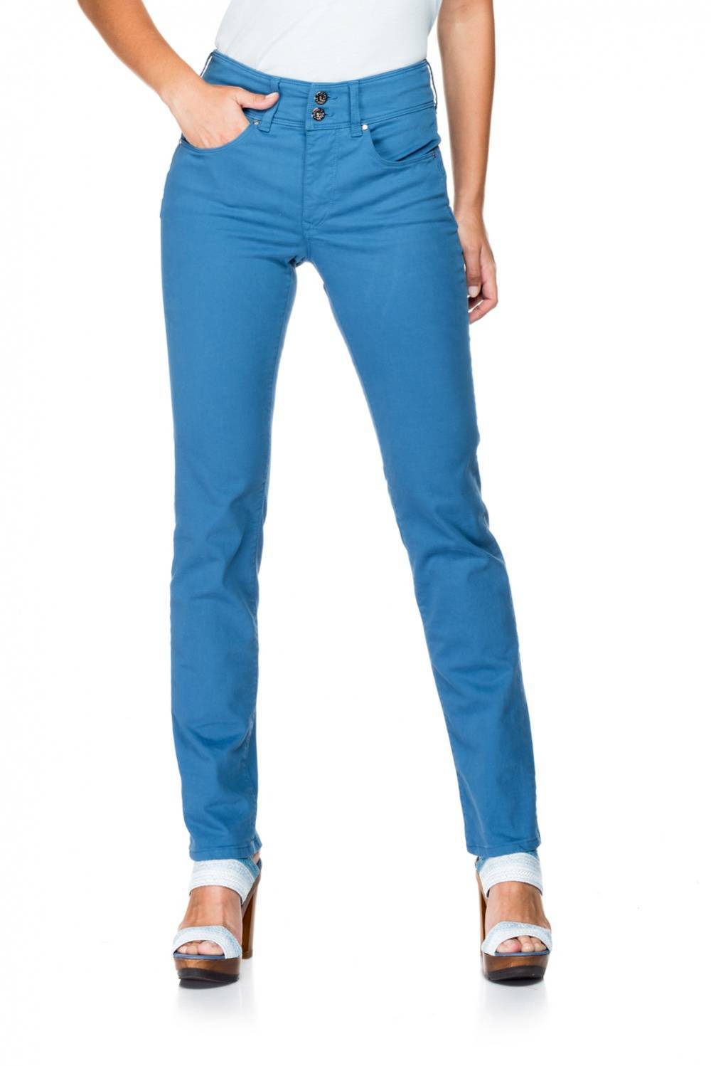Salsa Pantalones efecto vientre plano de color - Secret Push In