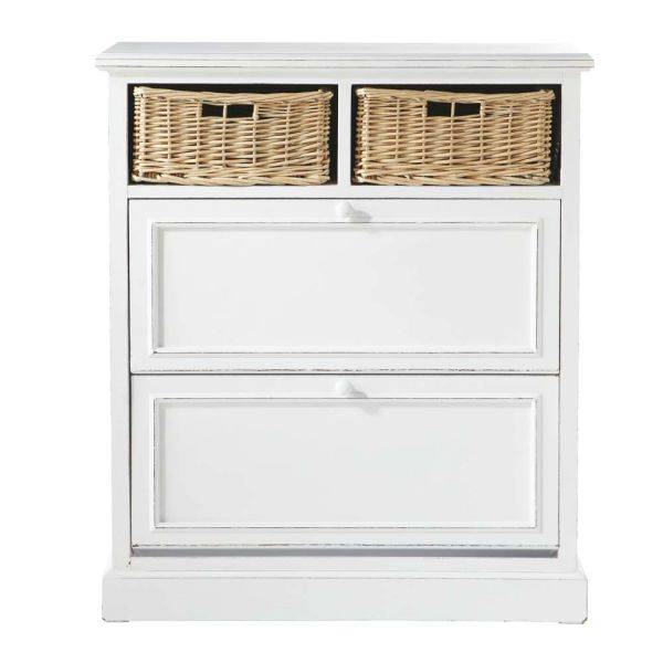 Maisons du monde Mueble zapatero blanco An. 80 cm Cottage