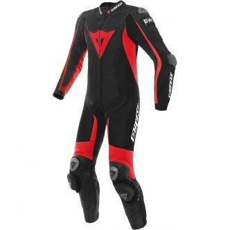 DAINESE Traje / Mono Dainese D-Air Racing Misano Estiva Black / Fluo-Red