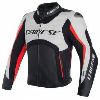 DAINESE Chaqueta Dainese Misano D-Air White / Black / Fluo-Red