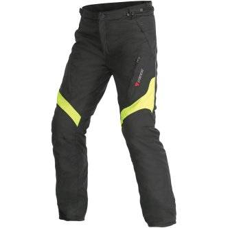 DAINESE Pantalon Dainese Tempest D-Dry Black / Yellow Fluo