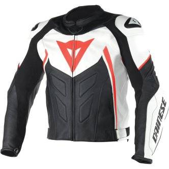 DAINESE Chaqueta Dainese Avro D1 White / Black / Fluo-Red