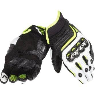 DAINESE Guantes Dainese Carbon D1 Short Black / White / Fluo Yellow
