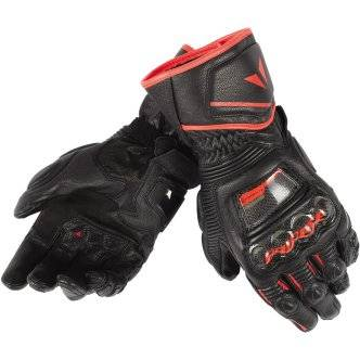 DAINESE Guantes Dainese Druid D1 Long Black / Fluo-Red