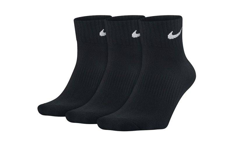 Nike Pack 3 Pares Calcetines Nsx4706 001 Lightweight Quarter Negro Blanco
