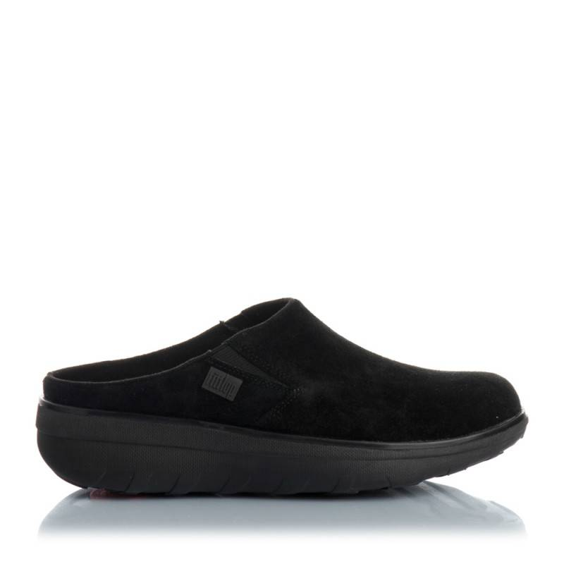 FITFLOP Loaf Sude Clogs 37 Negro