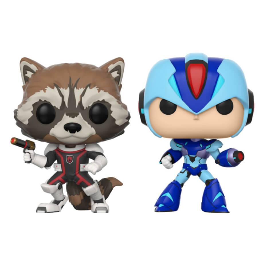 Pop! Vinyl Pack 2 Figuras Pop! Vinyl Rocket vs. Mega Man - Marvel vs Capcom