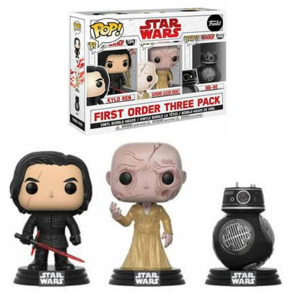 Pop! Vinyl Pack Exclusivo 3 Figuras Pop! Vinyl Los Malos - Star Wars: Los últimos Jedi