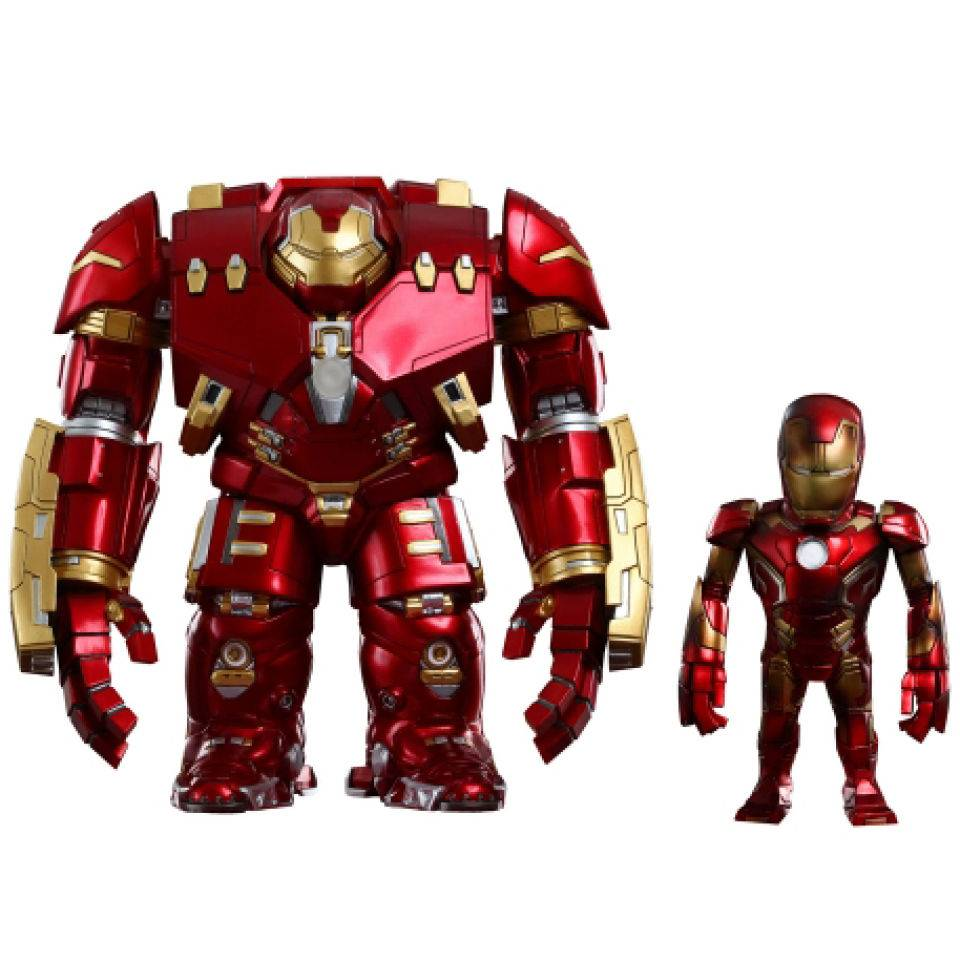 Hot Toys Vengadores La Era de Ultrón Cabezones Artist Mix Hulkbuster & Battle Damaged Iron Man