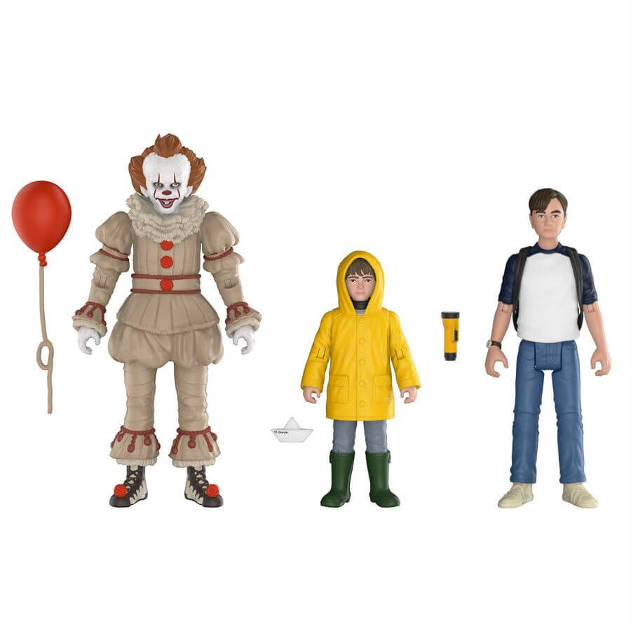 Action Figure Pack 3 Figuras Funko Articuladas Pennywise, Georgie y Bill - IT