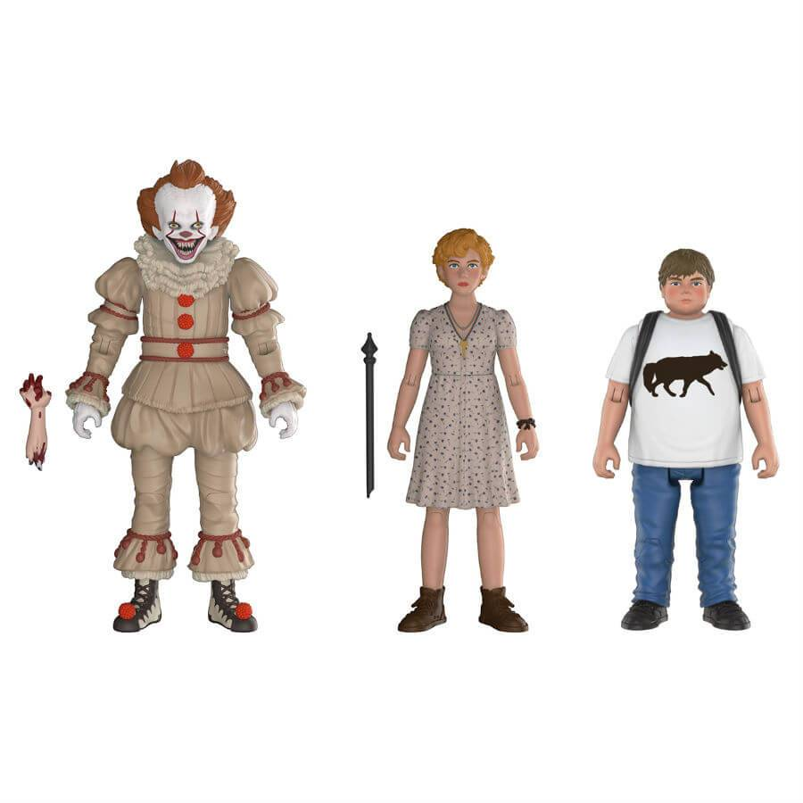 Action Figure Pack 3 Figuras Funko Articuladas Pennywise, Beverly y Ben - IT