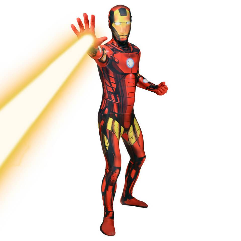 Morphsuits Morphsuit Deluxe Marvel  Iron Man  Zappar - Adulto - M - Rojo