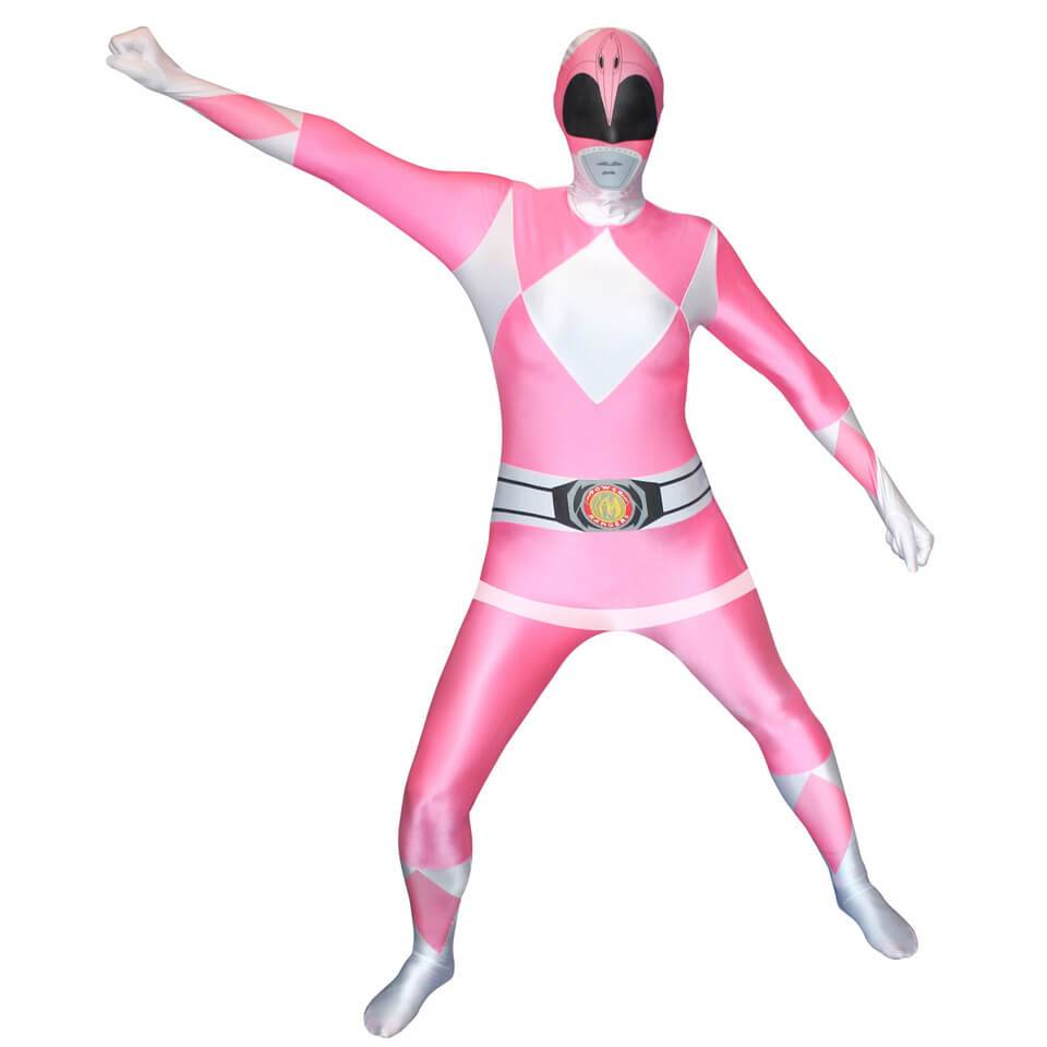 Morphsuits Morphsuit Adults' Power Rangers Pink - XL - Rosa