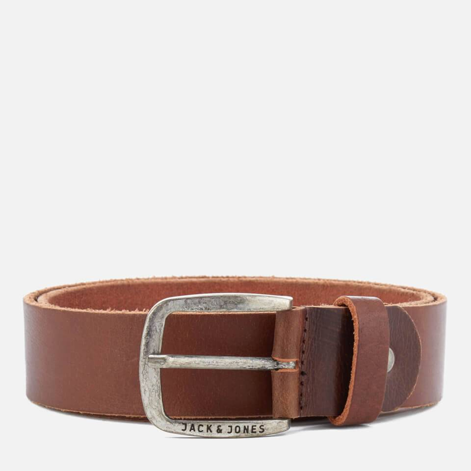 Jack & Jones Cinturón Cuero Jack & Jones Paul - Hombre - Marrón café - M (90cm) - Brown