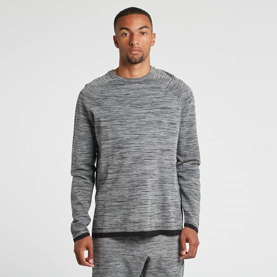 Nike m nsw tech knit crew Carbon Heather/Black