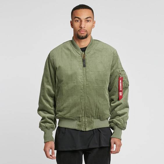 The Cords & Co Ma1 Bomber x Alpha Industries Icon Green