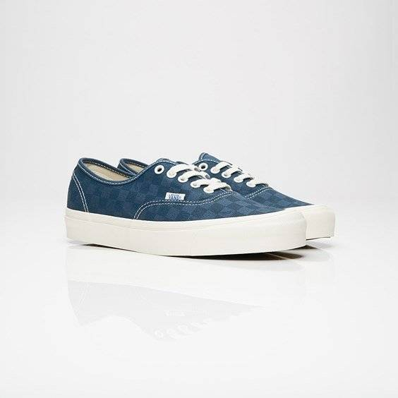 Vans Ua Og Authentic Lx (Canvas/Suede) Checkerboard/Majolica blue