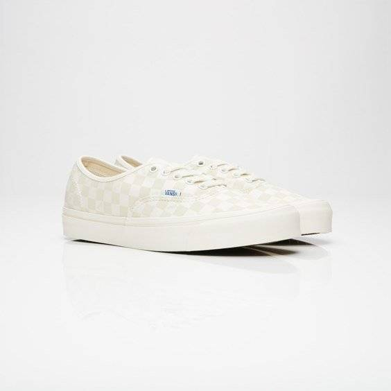 Vans Ua Og Authentic Lx (Canvas/Suede) Checkerboard/Marshmallow