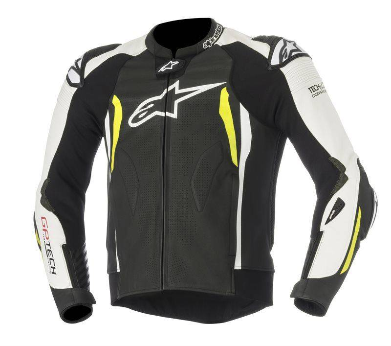 ALPINESTARS Chaqueta  Gp Tech V2 Tech-Air Negro/blanco/amarillo Neón