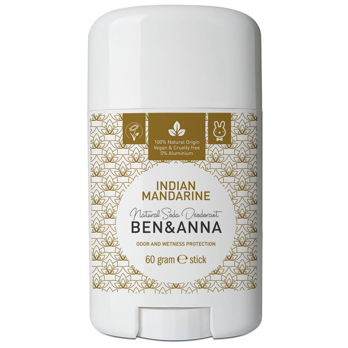 Ben&Anna Desodorante natural en stick Indian Mandarine