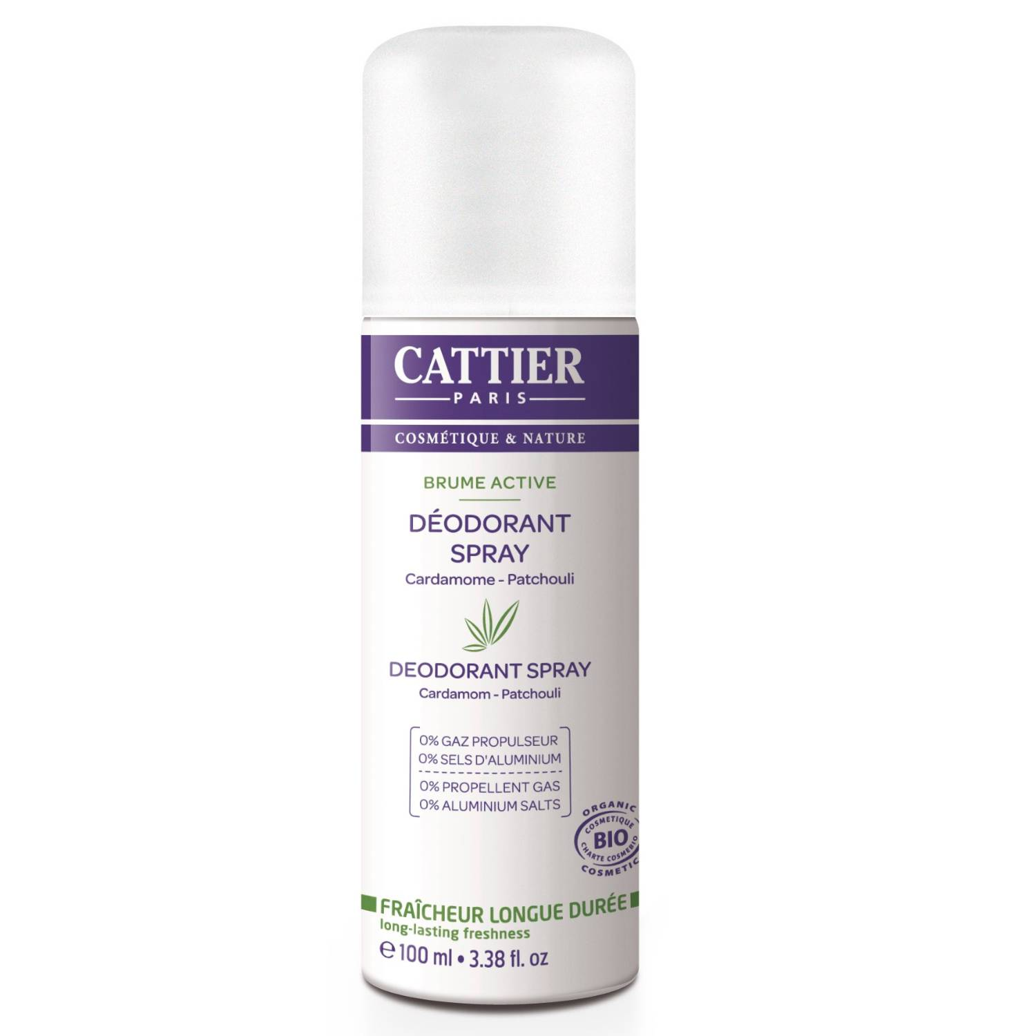 Cattier Desodorante spray Brume Active para mujer