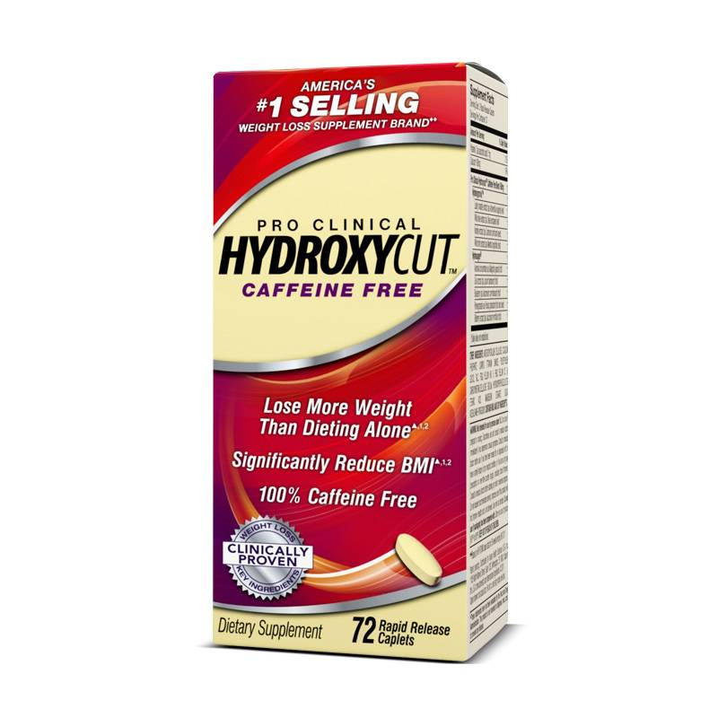 HYDROXYCUT PRO CLINICAL CAFFEINE FREE 72 Tabs
